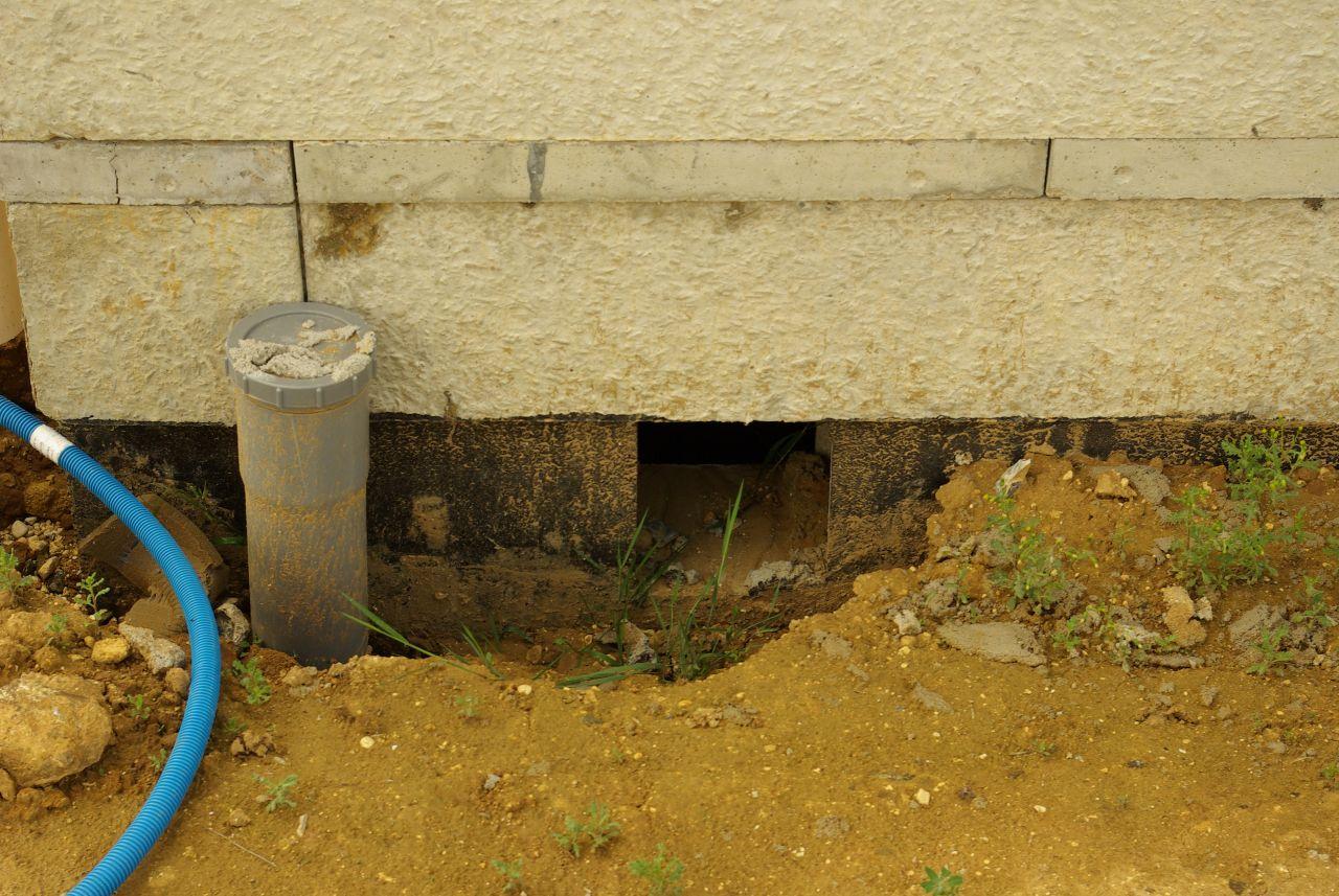 L'eau de pluie entre dans le sous-sol