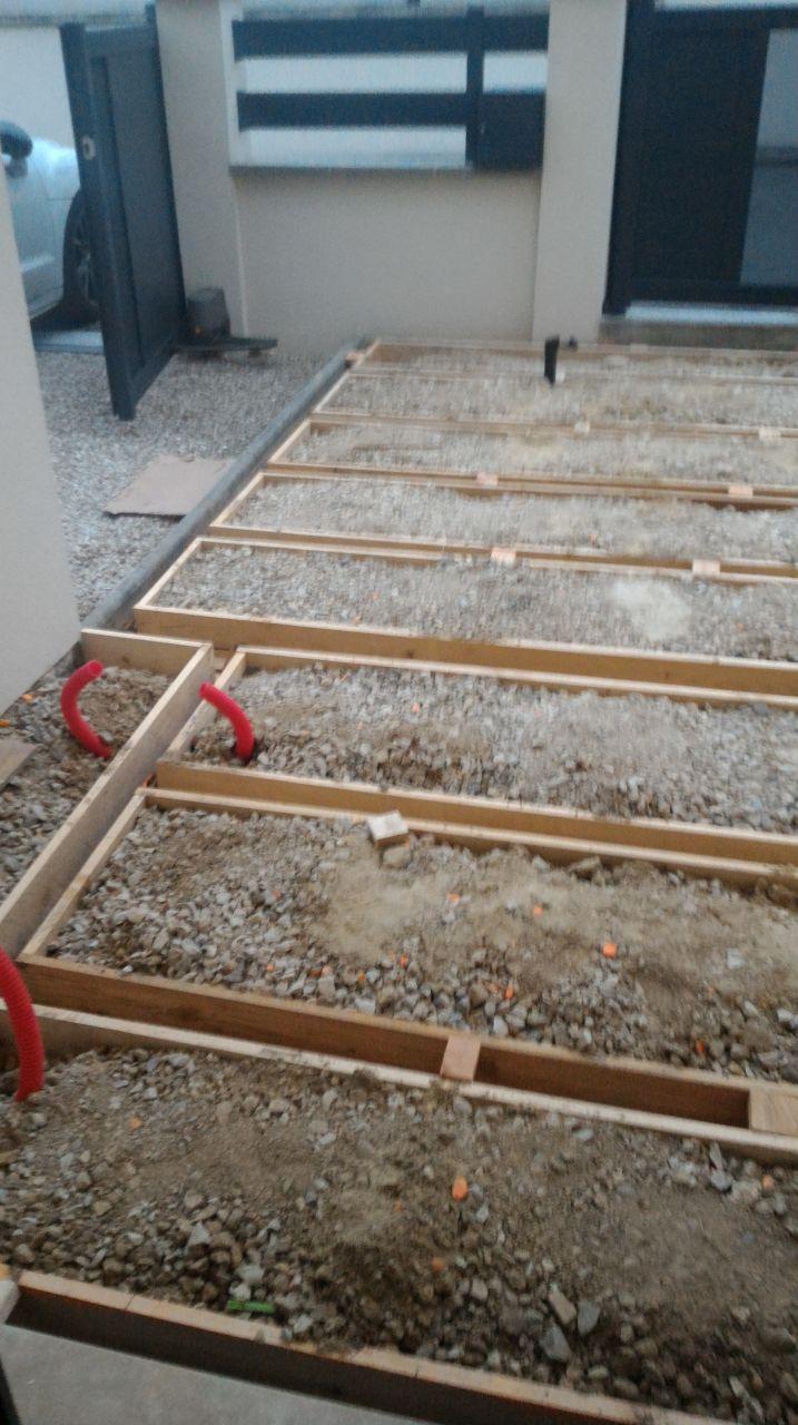 Coffrage pour structure béton - support terrasse