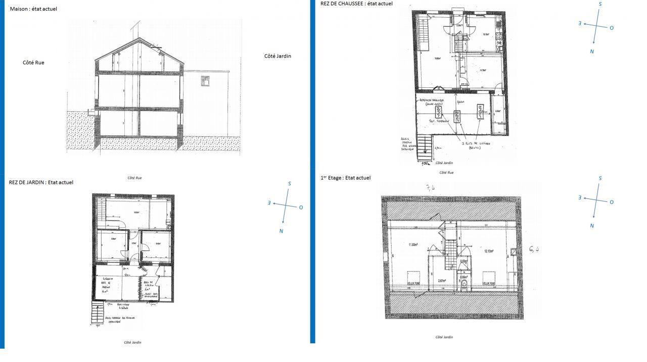 Plans de maison avant rénovation