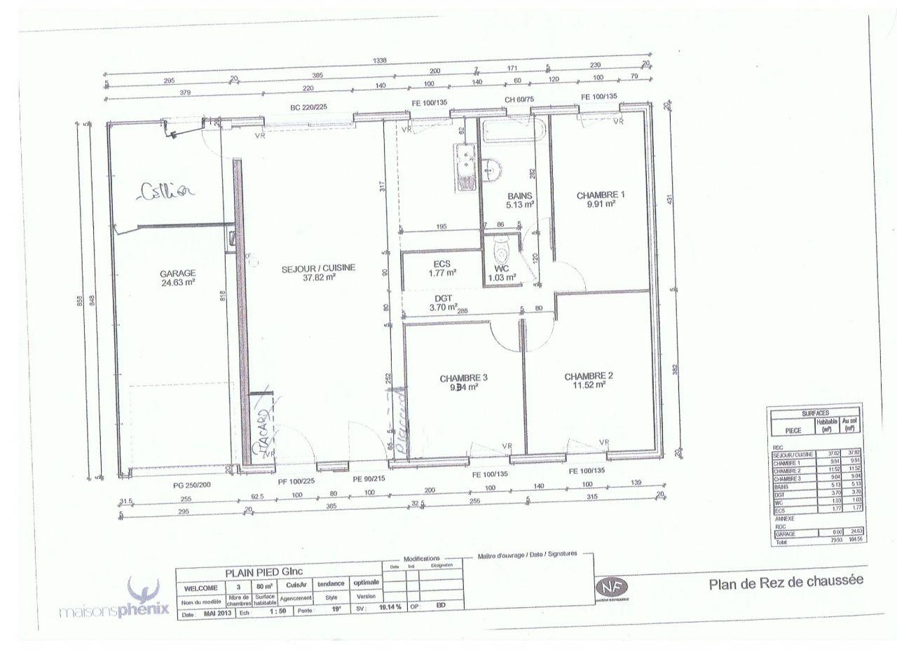 il y aura une cloison dans l'entree pour un futur placard (perpendiculaire au mur de droite ). pas de placard a gauche , quelques petites modifs ..