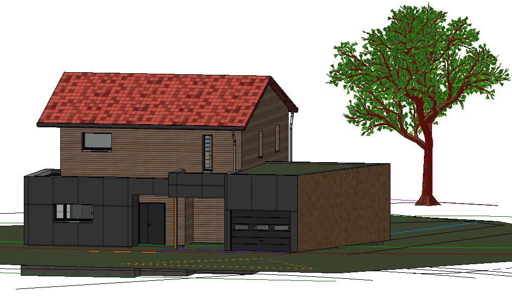 Vue 3D facade Est
