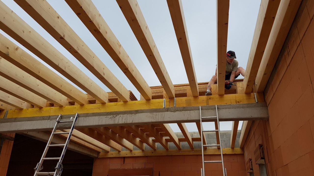 Ossature bois pour toit terrasse