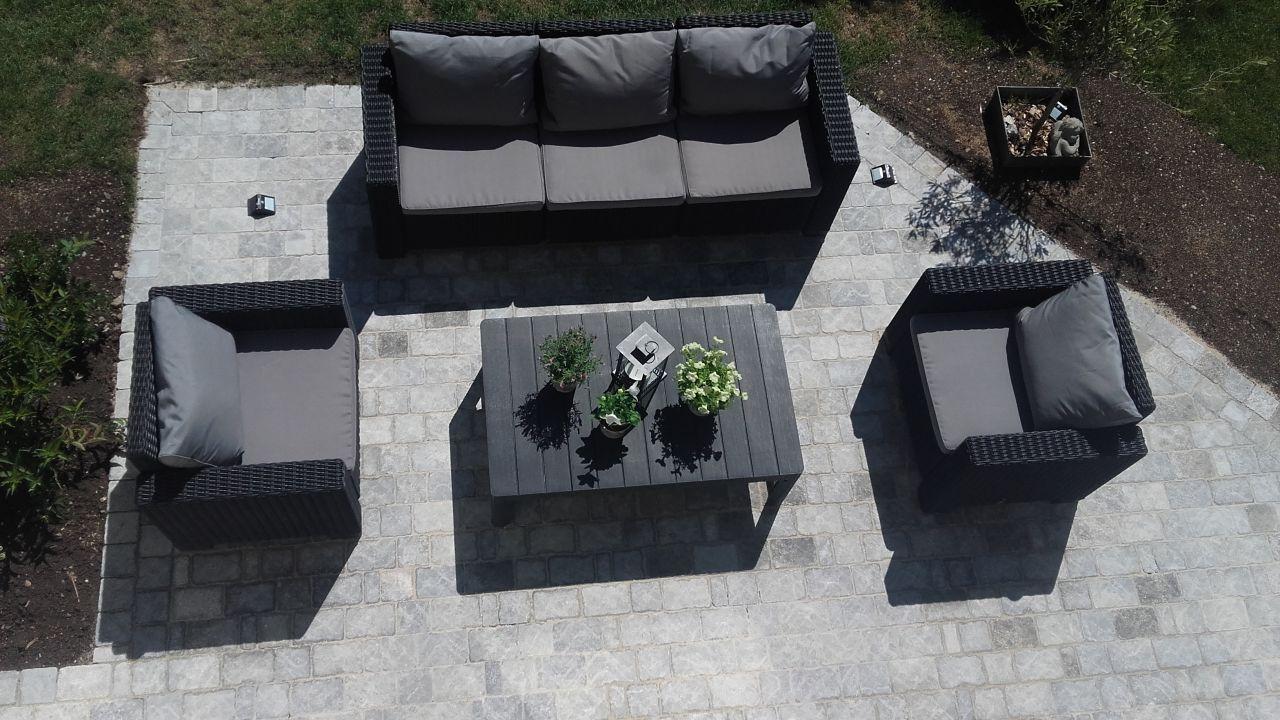 Terrasses terminées pour fêter le premier anniversaire de notre HOME SWEET HOME!