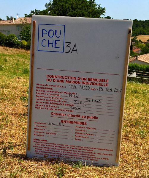 Obtention du permis de construire le 29 juin.
