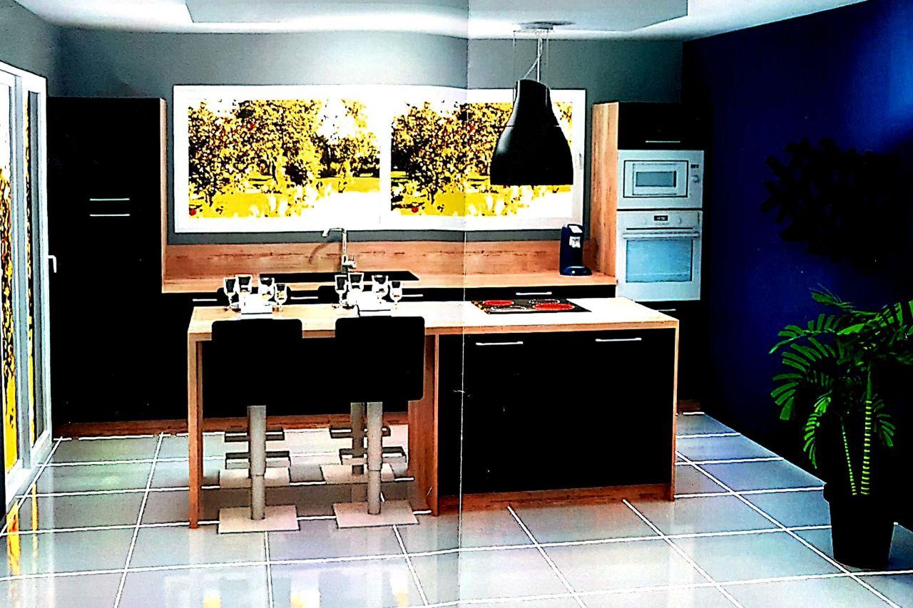 Visuel d'implantation de la future cuisine