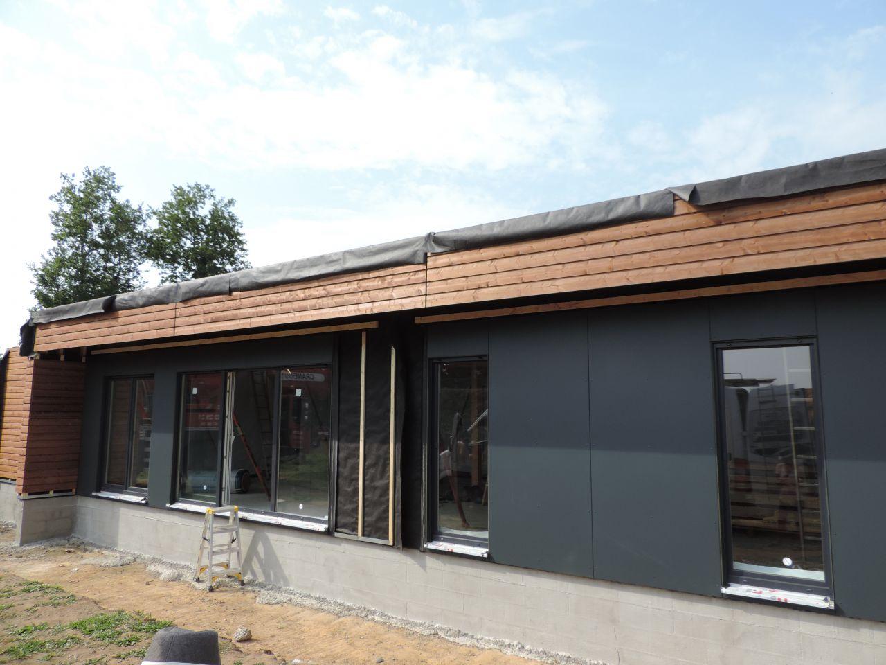 Pose de la maison - façade sud