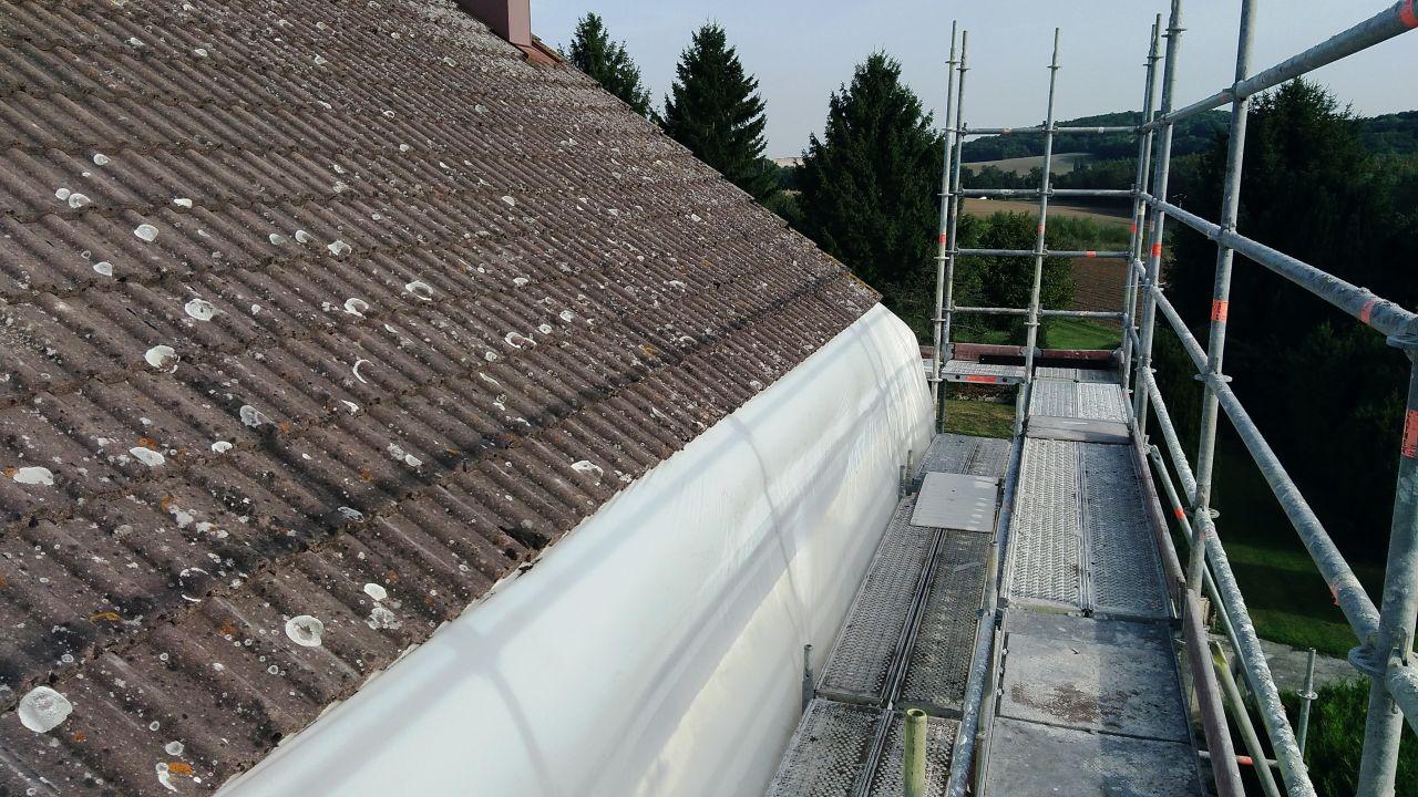echafaudage démonatge avant toit