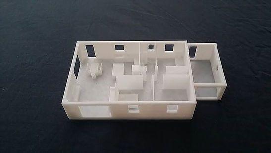 Voici une reproduction 3D de notre projet (effectué par mes soins)