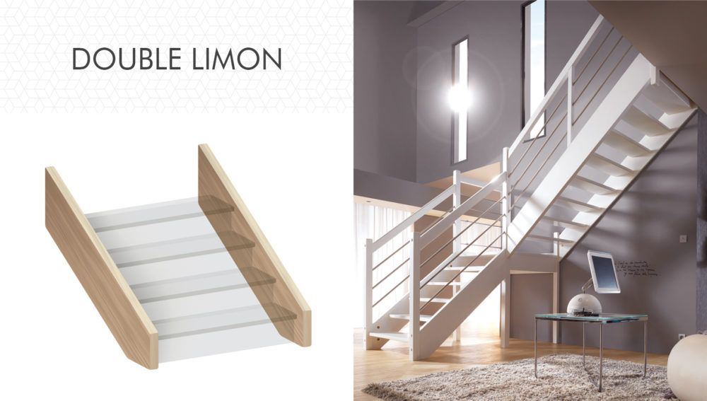 Structure double limon d'escalier Flin