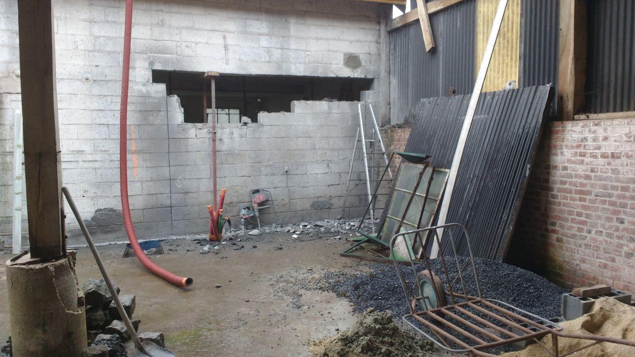 Mise en forme de la façade ( maçonnerie / linteau / découpe)