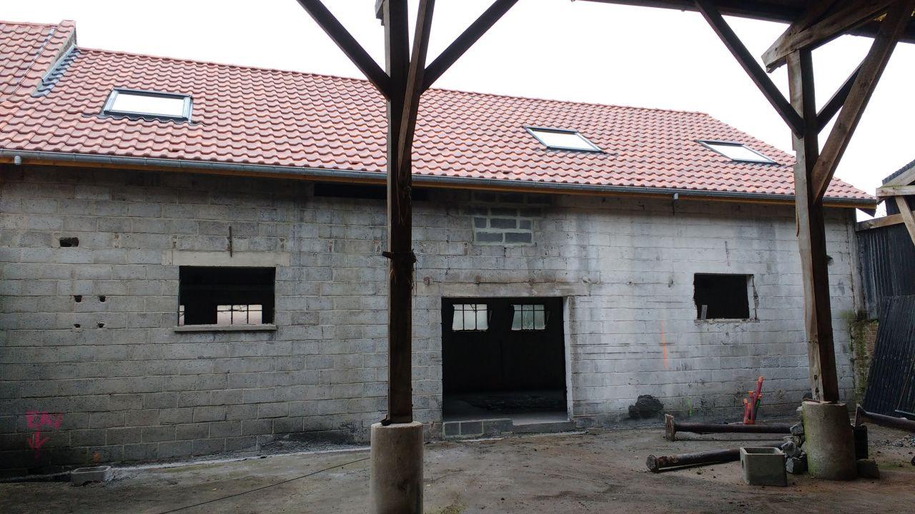 Mise en forme de la façade ( maçonnerie / linteau / découpe) <br /> AVANT