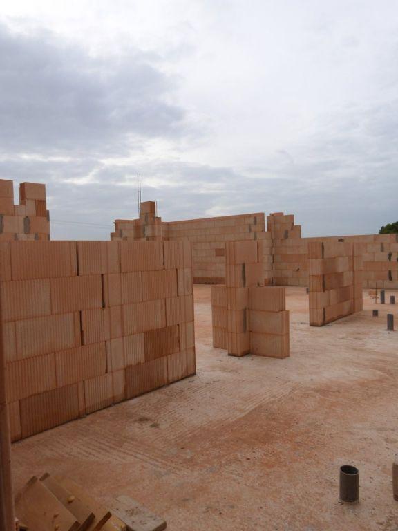 Début des murs porteurs intérieurs