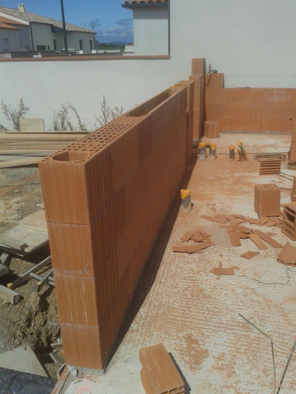 élévation des murs RdC - détail des joints de colle
