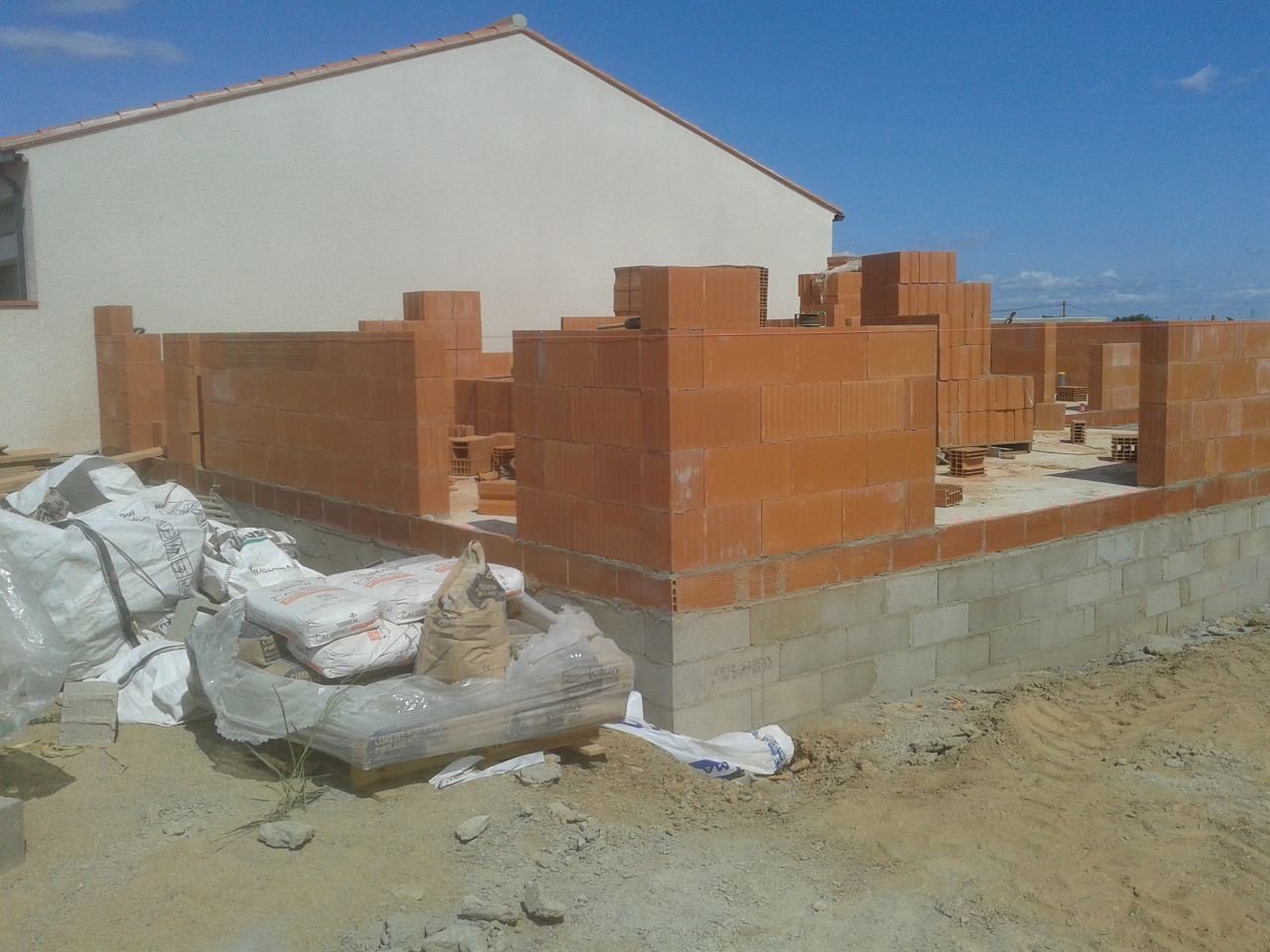 élévation des murs RdC - vue globale