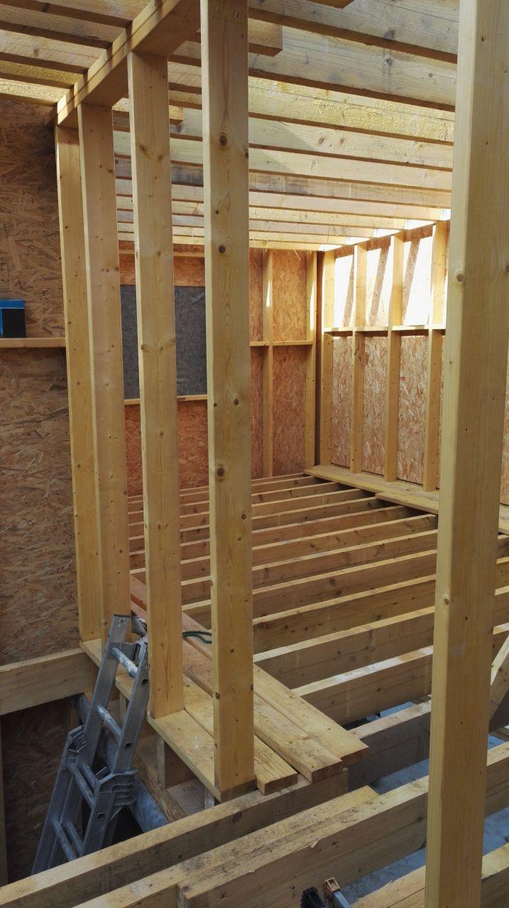 Solives toiture plate + plancher étage