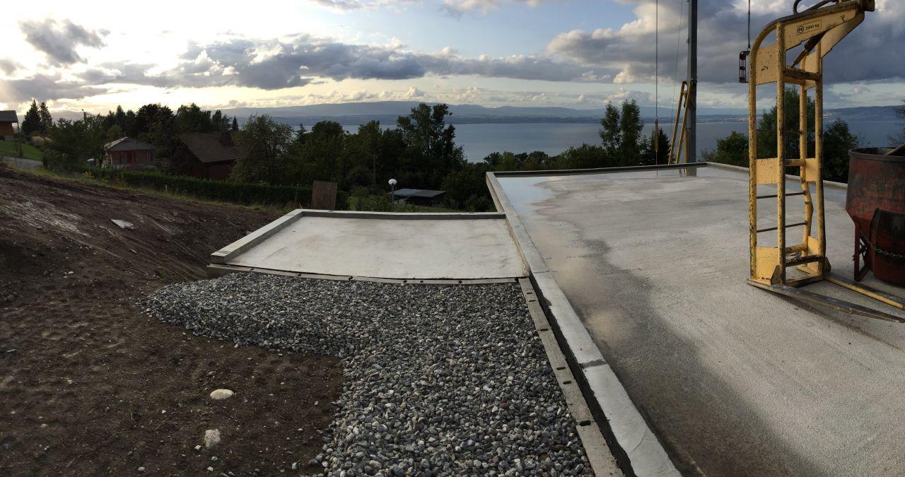 remblais et gravier de propreté coté terrasse ouest