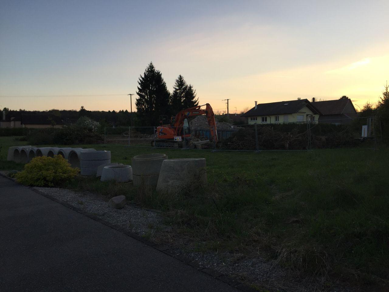 Maison détruite pour créer la voirie