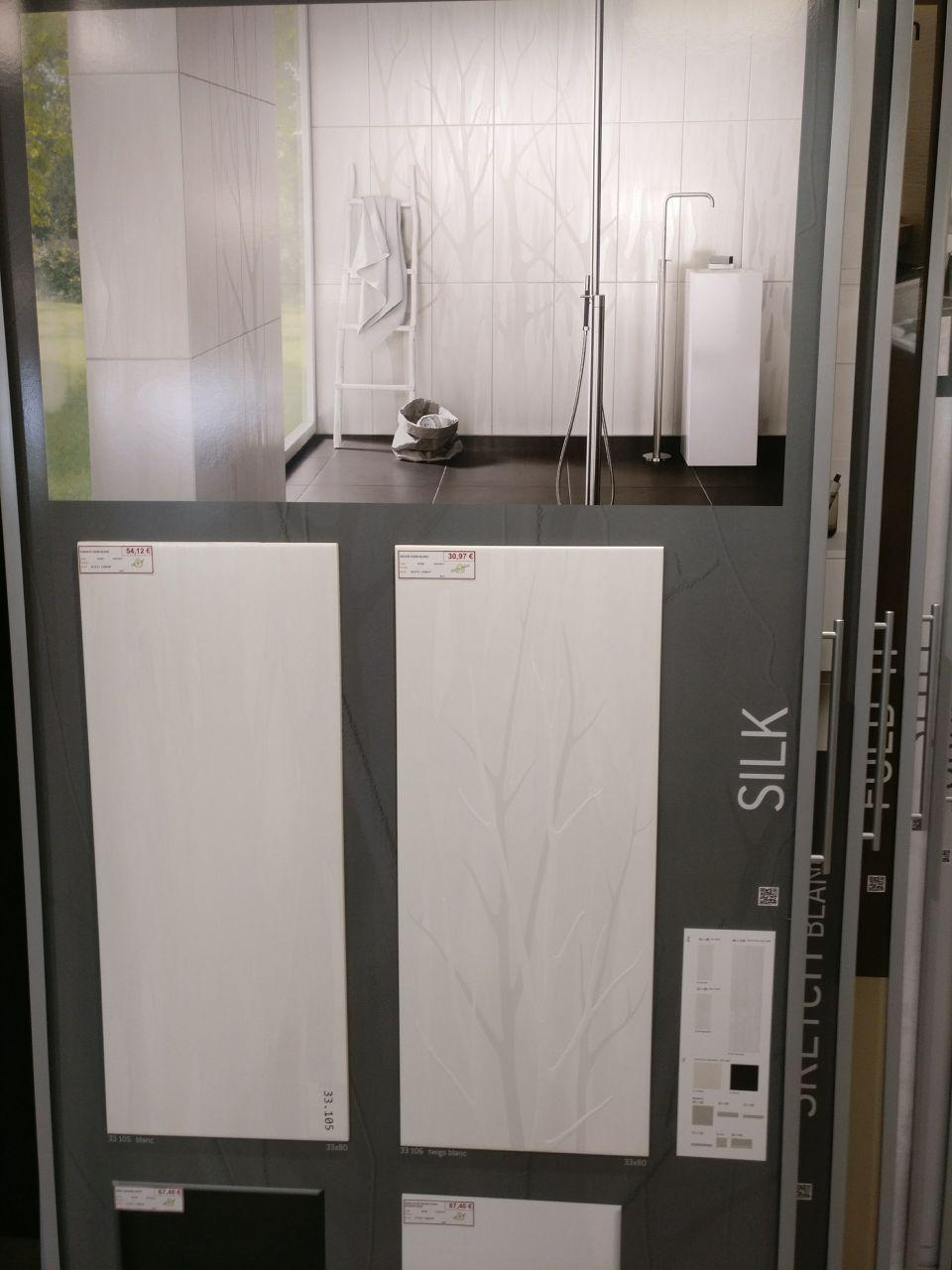 Faïence Steuler Design Kollektion Silk en white satin chez Aubade