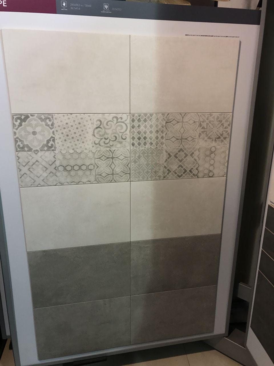 Choix faïences salle d'eau