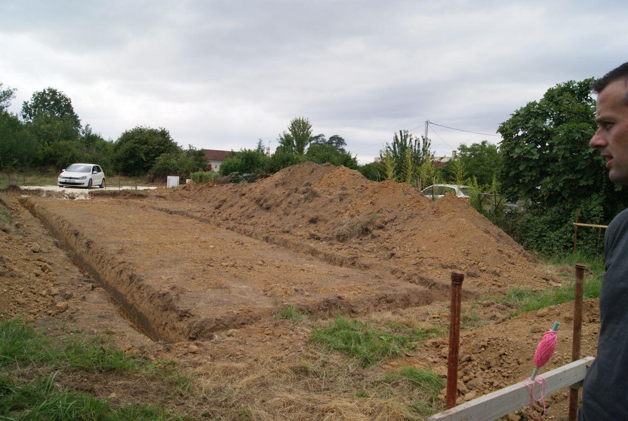 Fondations creusées