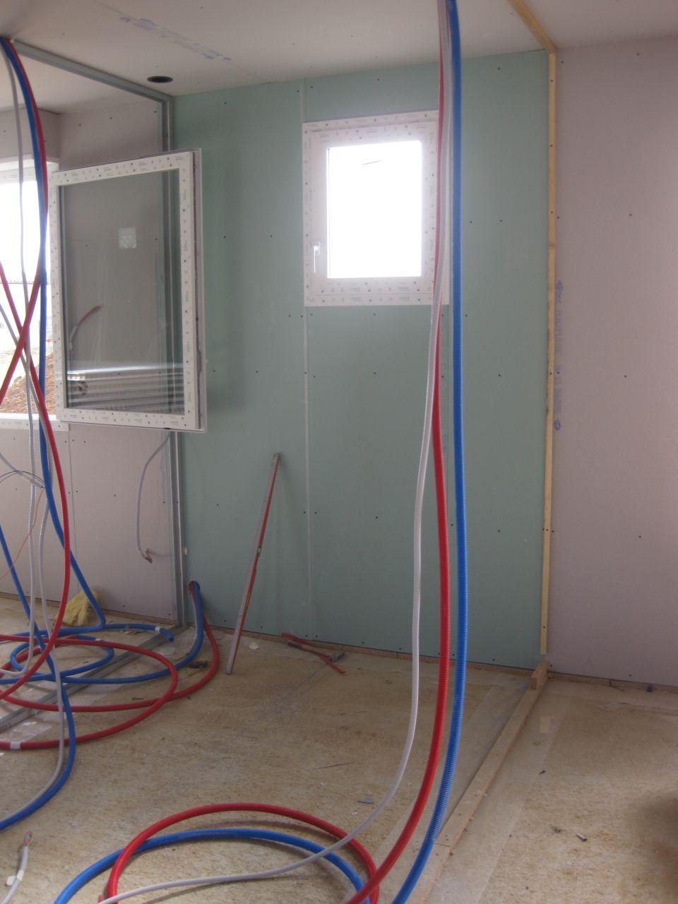 la salle de bain, placo hydrofuge