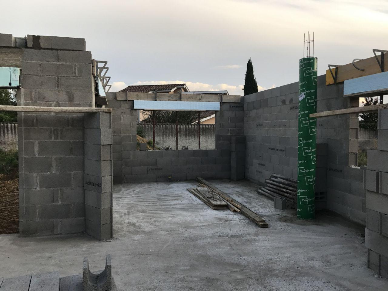 Élévation des murs - J4