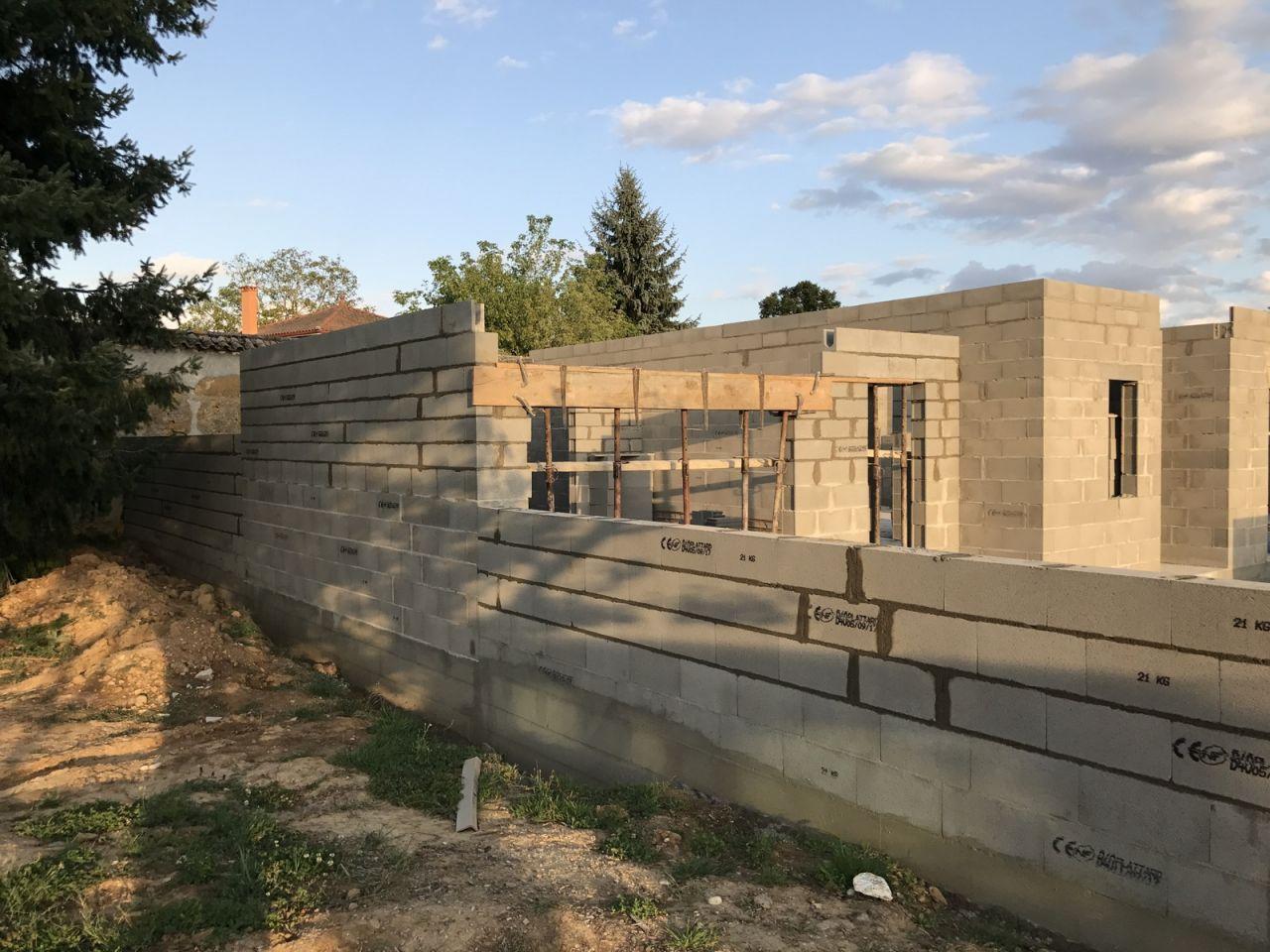Élévation des murs - J5