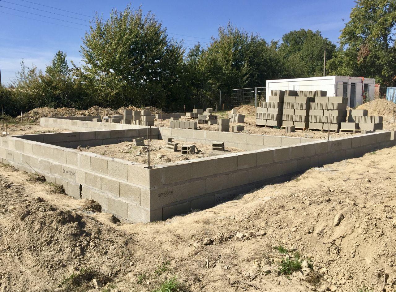 Elévation des murs du vide sanitaire