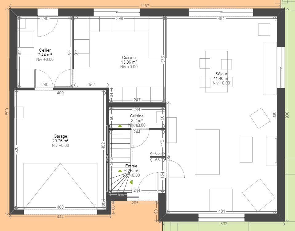 maison contemporaine r gion lilloise p v le ennevelin nord. Black Bedroom Furniture Sets. Home Design Ideas