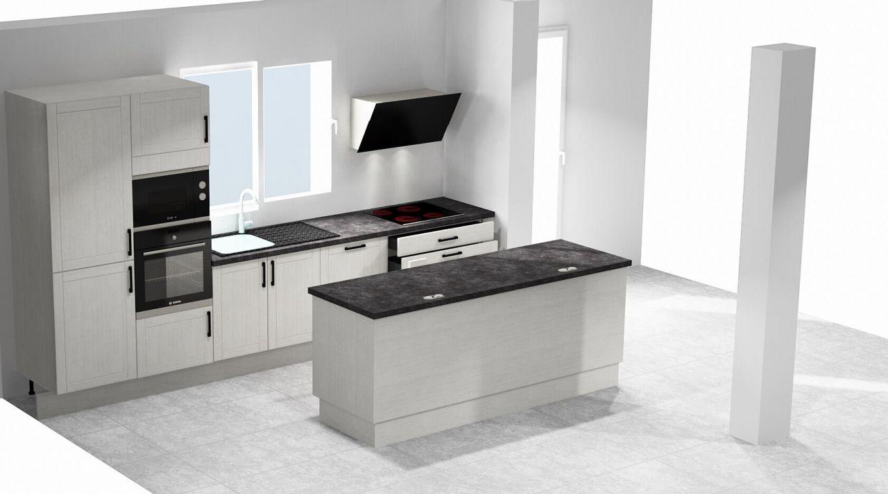 Plan 3D de notre cuisine