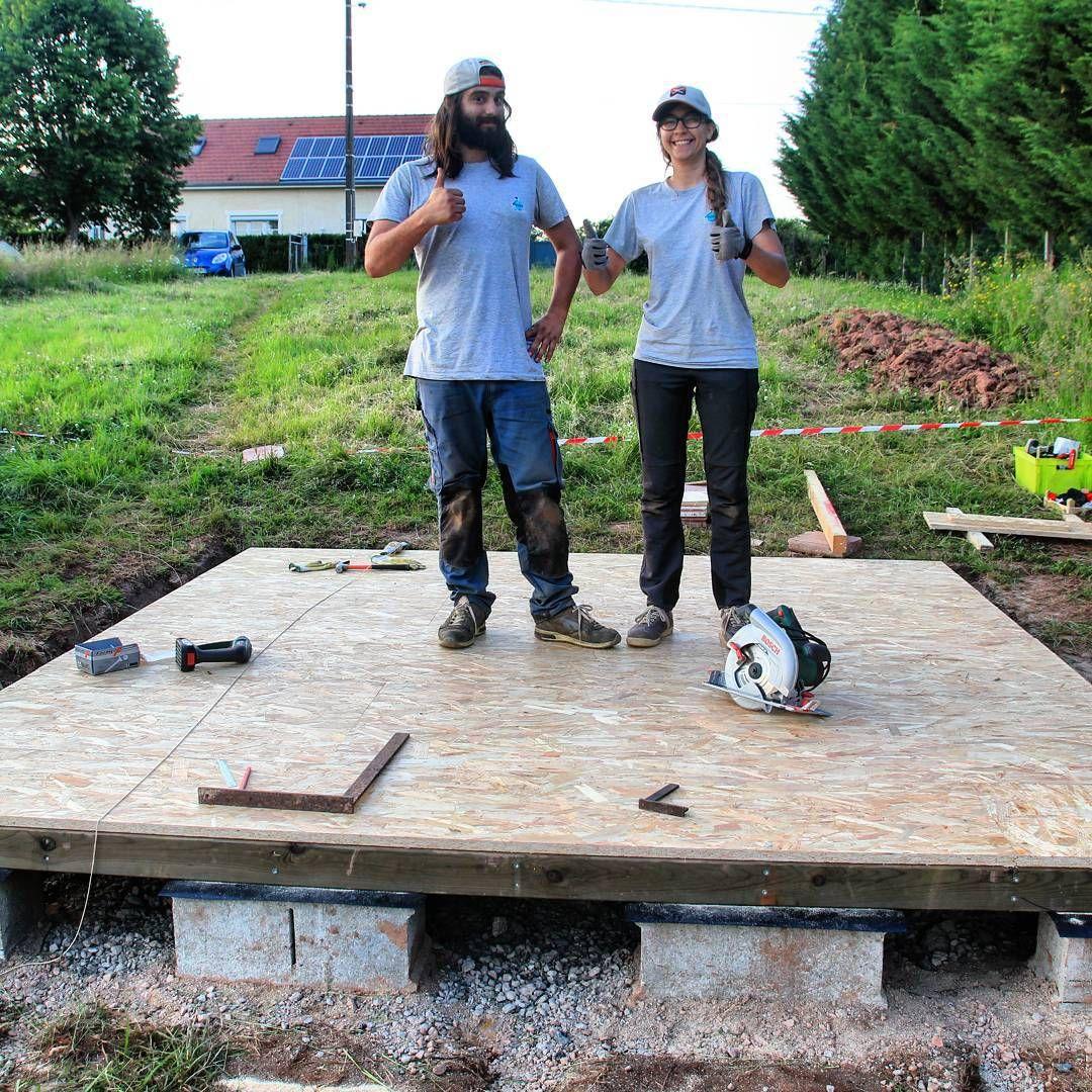 Dalle bois (plancher OSB 22m) de l'abri de jardin