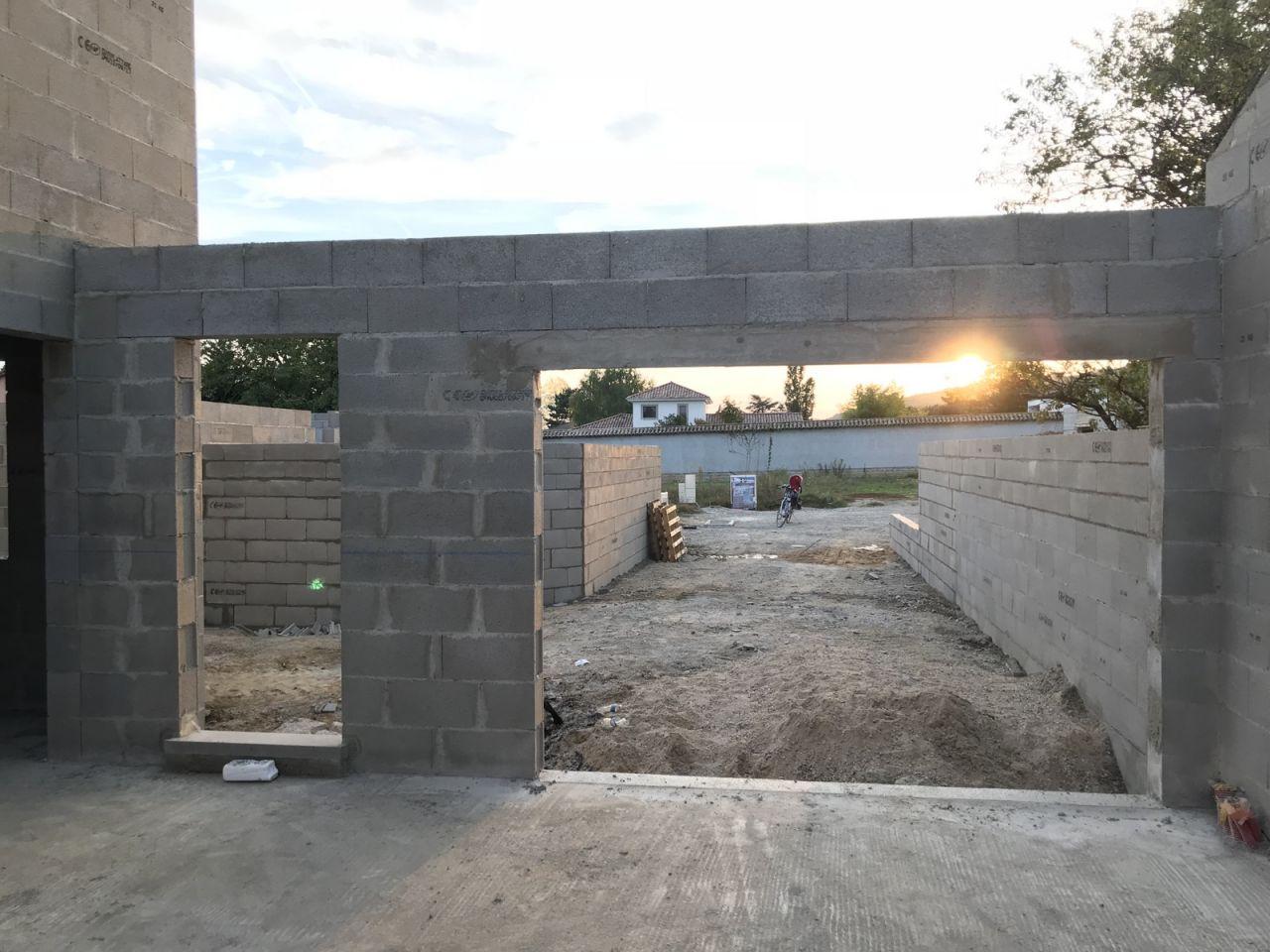 Élévation des murs - J11