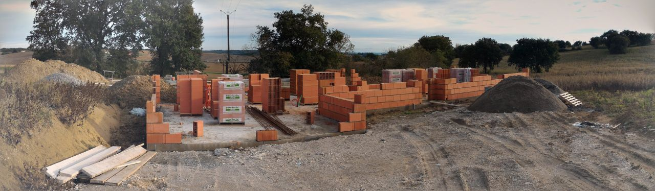 Elévation des murs