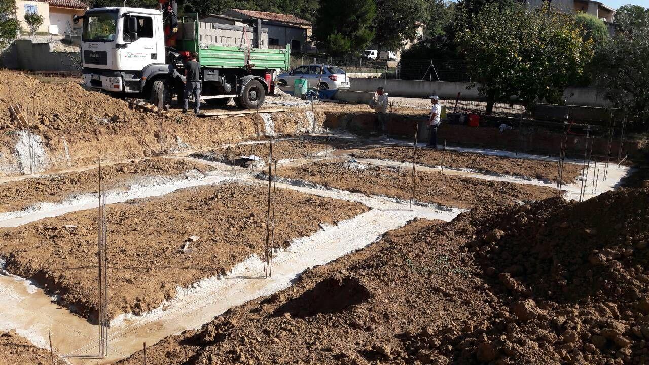 Fondation terminée début vide sanitaire enterré