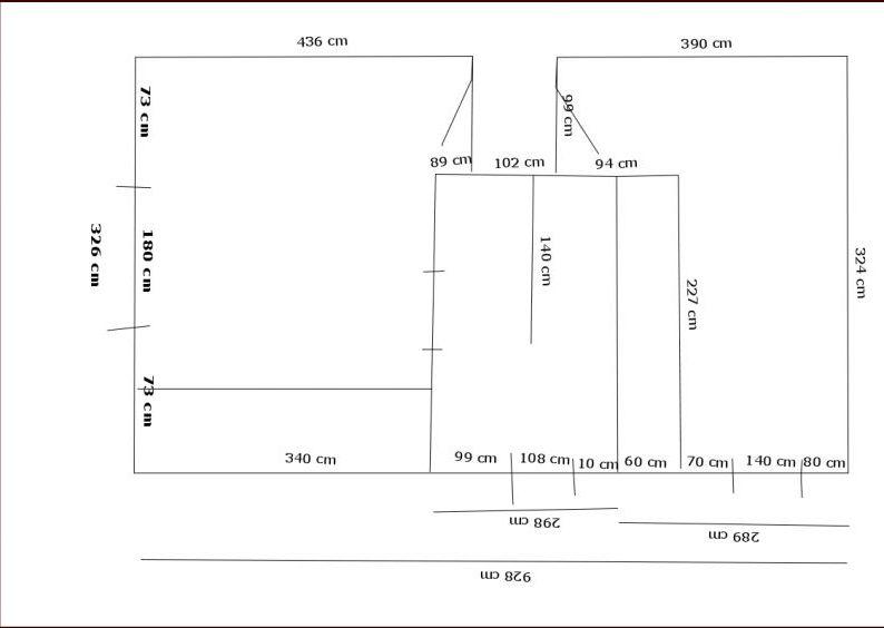 Plan coté des deux chambres et de la salle de bains
