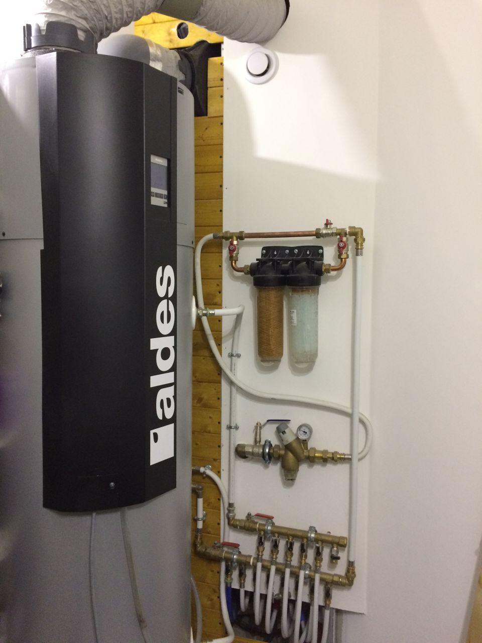 chauffe eau thermodynamique + réseau eau