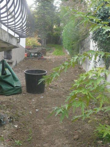 Préparation bande jardin côté nord