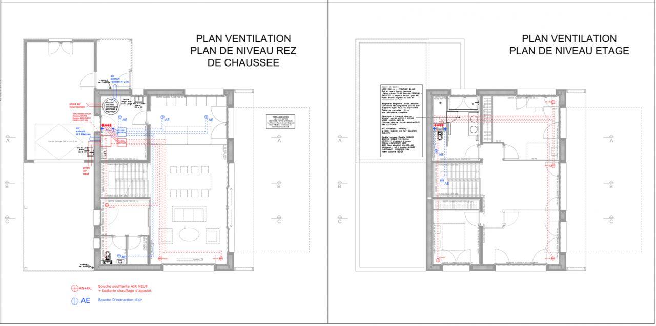 Plan de la ventilation VMC