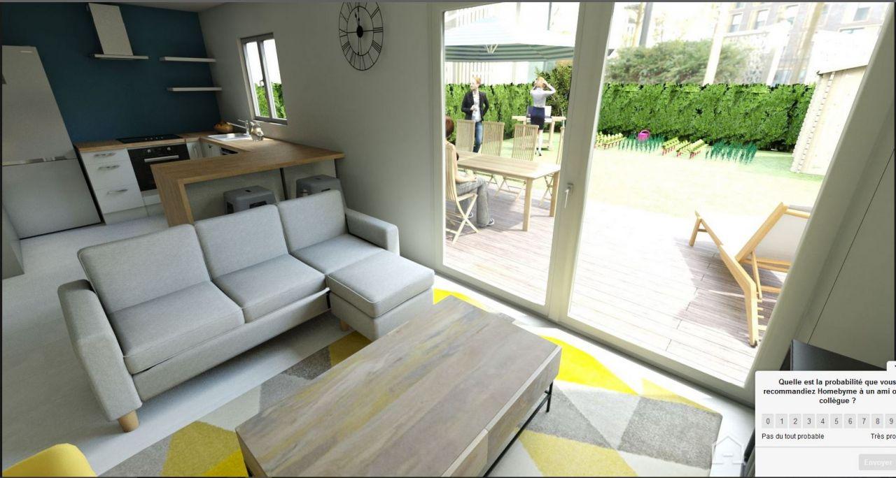 Visuel futur Séjour / Jardin crée avec HomeByMe