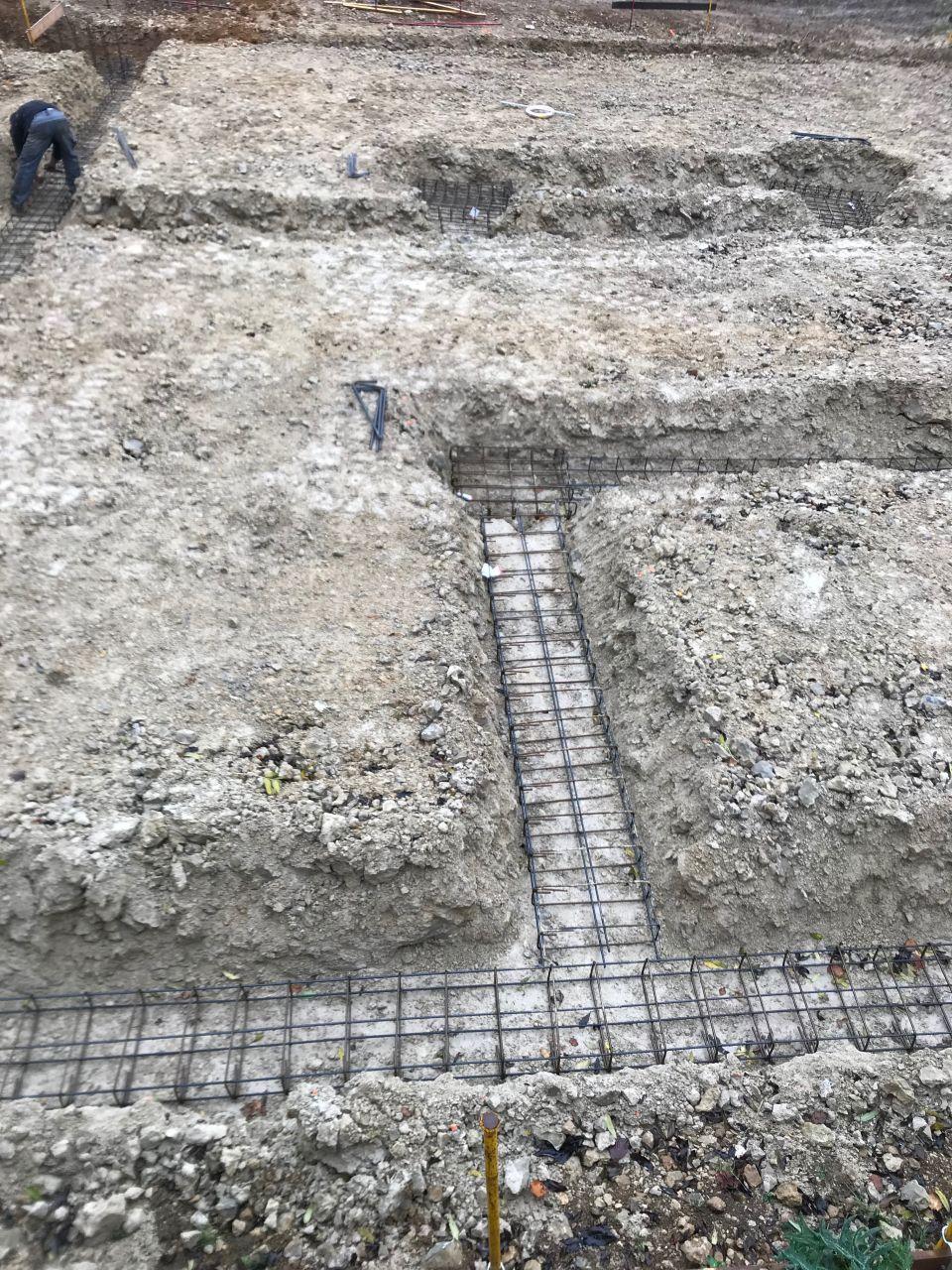 Pose des fers dans les fouilles