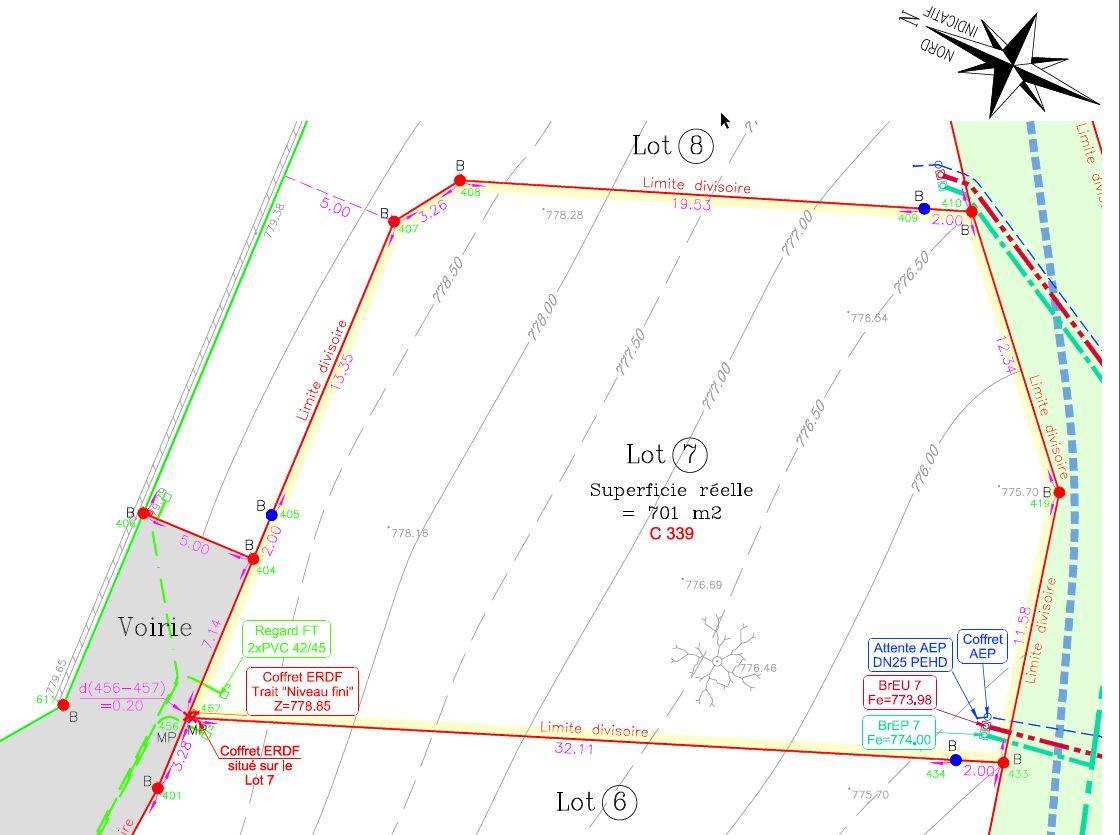 Le plan du terrain