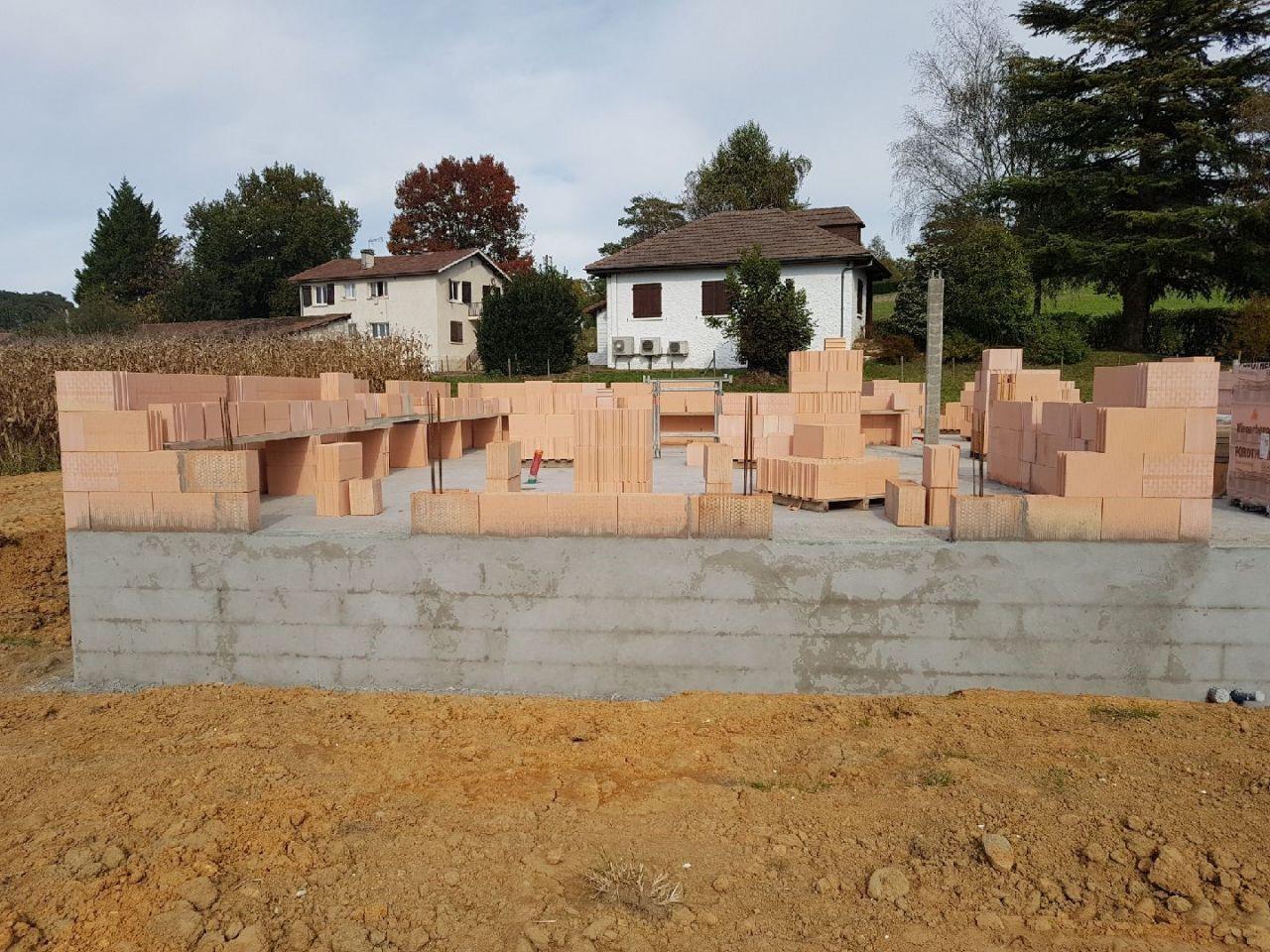 début élévation des murs