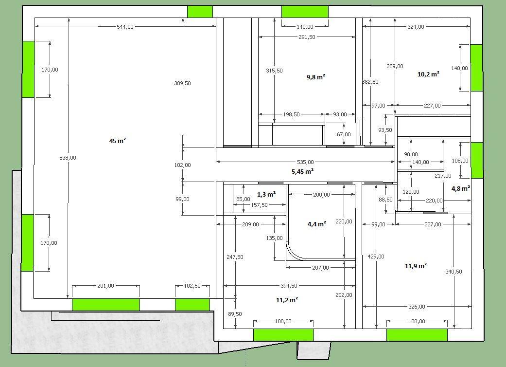 Plan maison côté