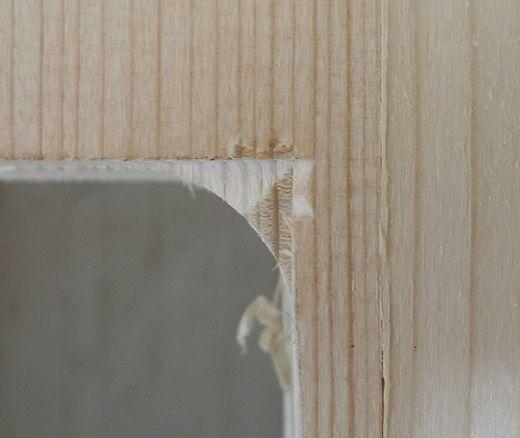 Détail des ouvertures portes et fenêtres dans le KLH (angle arrondis)