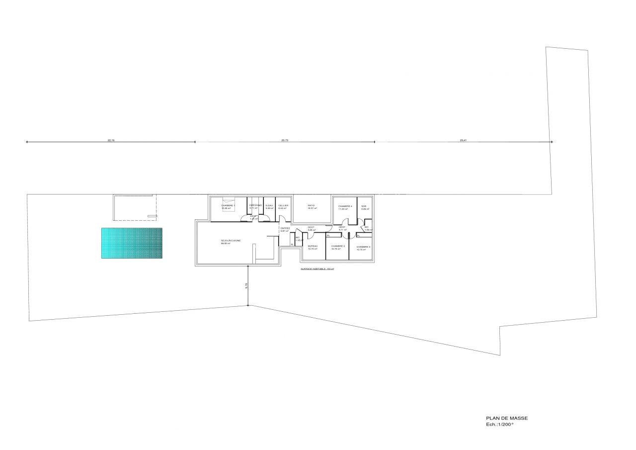 Plan sur terrain (emplacement maison non définitif)