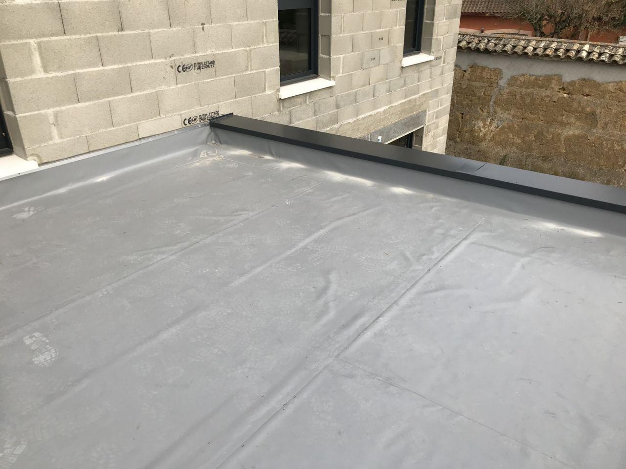 La partie en toit terrasse