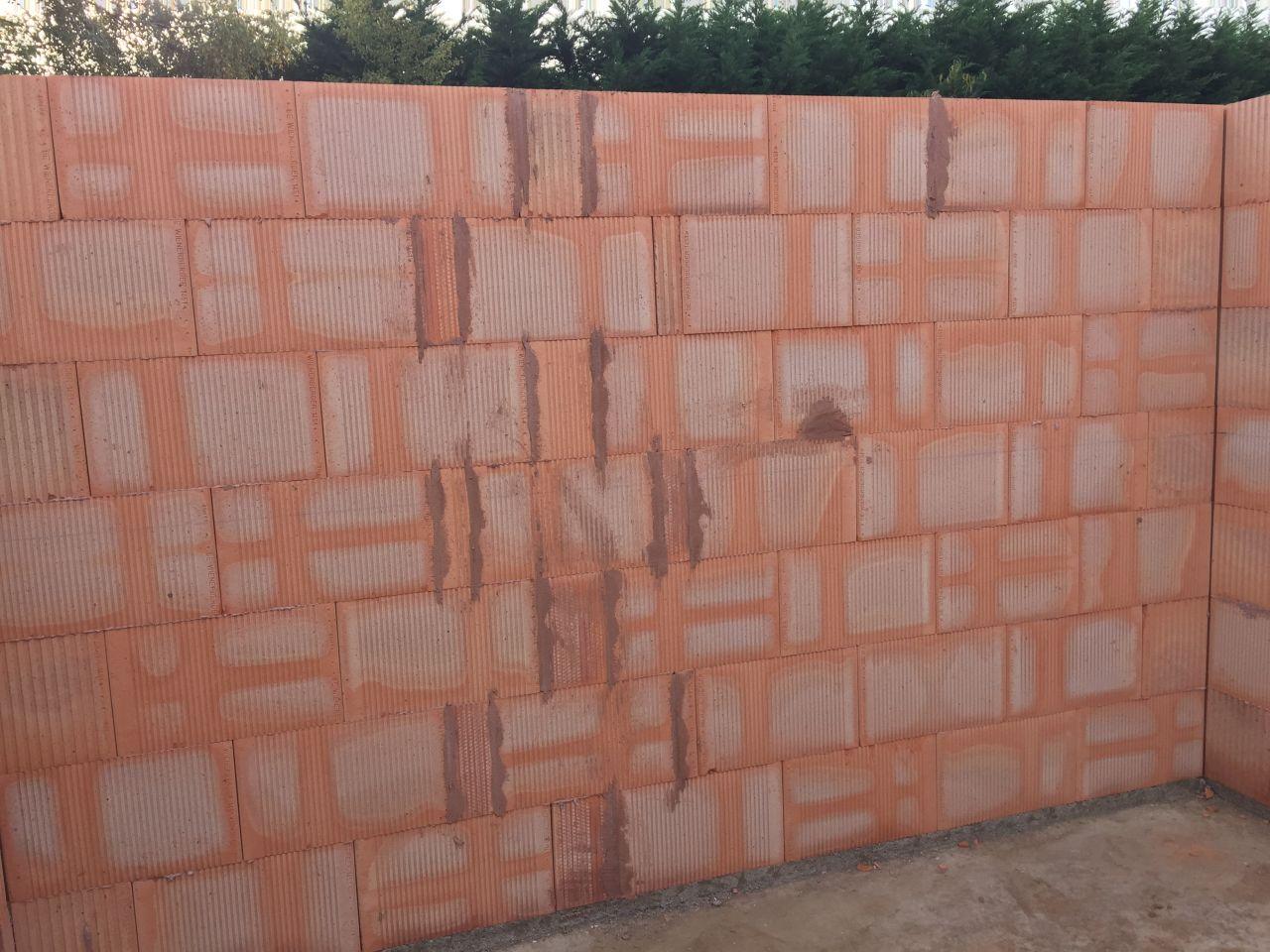 Elevation des murs du RDC
