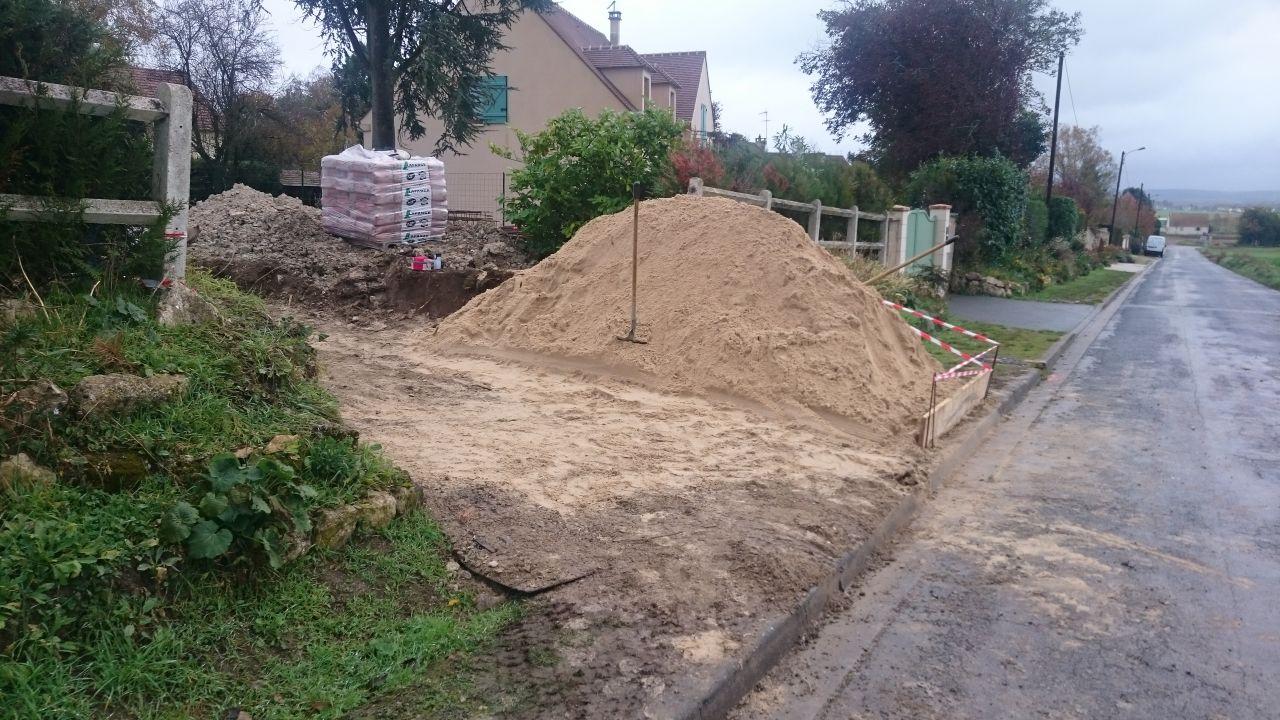 sable livré pour la maçonnerie