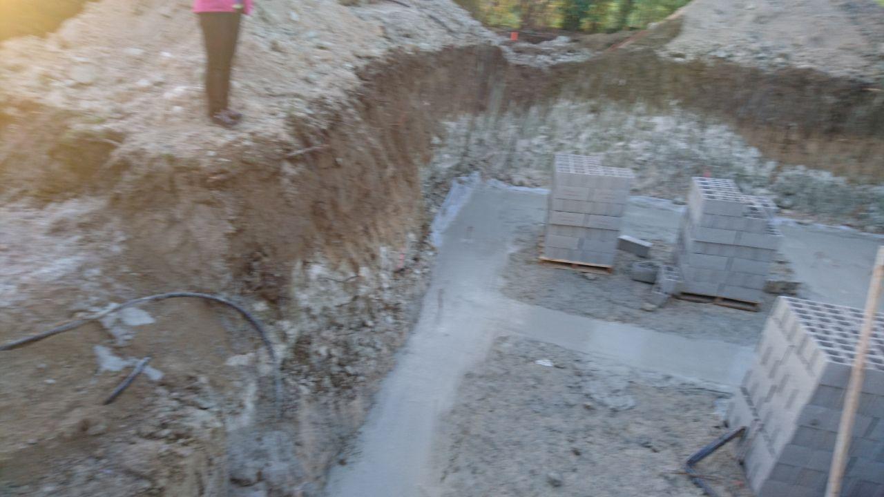 fondations terminées