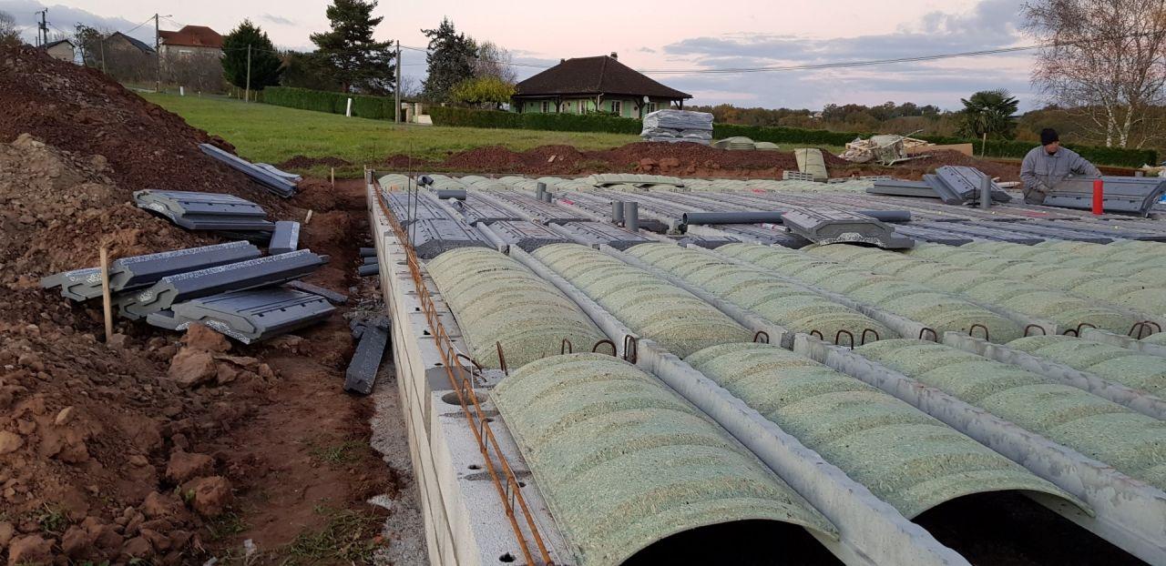 Mise en place des tuyaux PVC